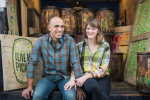 Charlotte and Shai Tzabari, owners of Olive My Pickle in Jacksonville, Florida