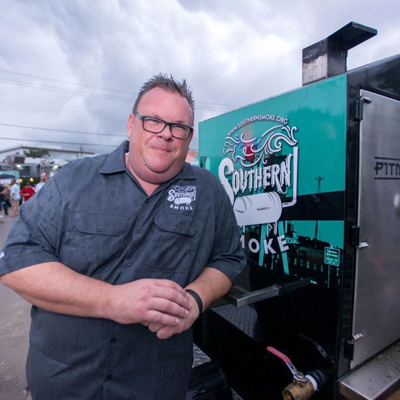 Chef Chris Shepherd, co-founder of the Southern Smoke Foundation