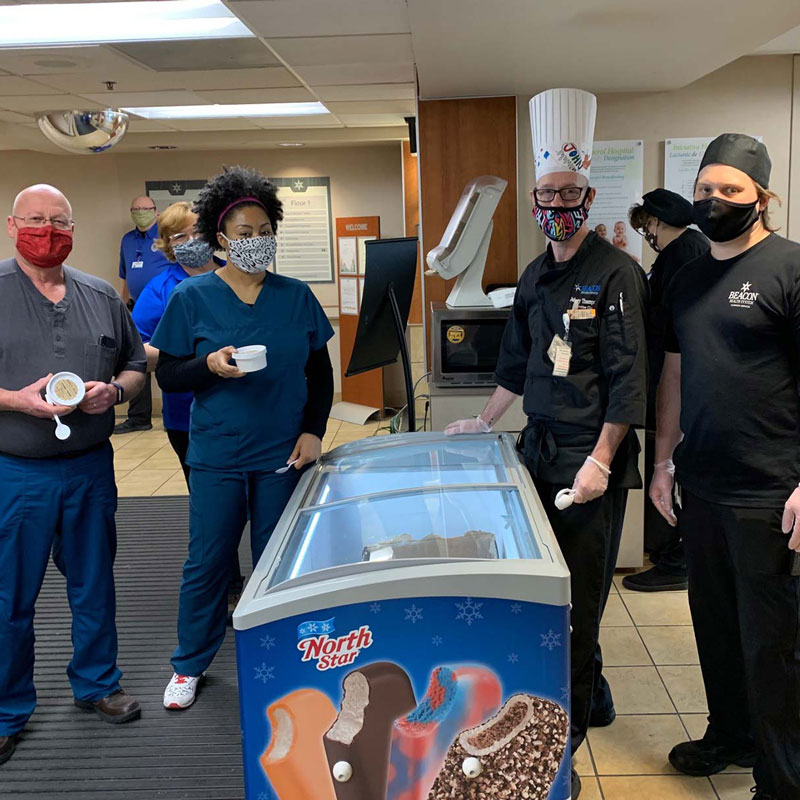 Vanilla Bean Creamery donated 900 ice cream sundaes to Elkhart General Hospital