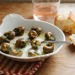 snails garlic butter rose wine