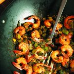 Leek Green Shrimp Stir-fry