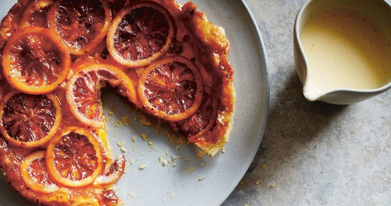 Blood Orange and Cardamom Tarte Tatin