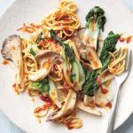 Spicy Saucy Sichuan Mushroom Chow Mein Stir Fry