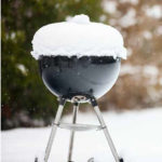 grill covered with snow