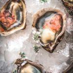 kumamoto oysters pickled ginger granita