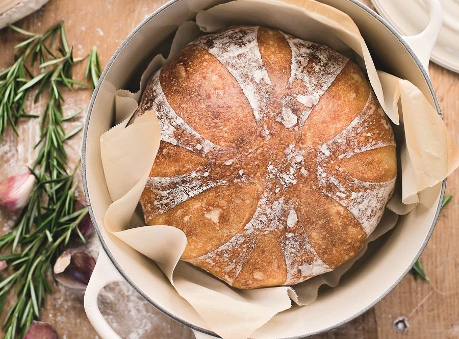 Roasted Garlic Sourdough Bread