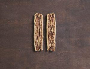 Babka roll cut in half