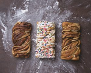 Babka with different flavor combinations