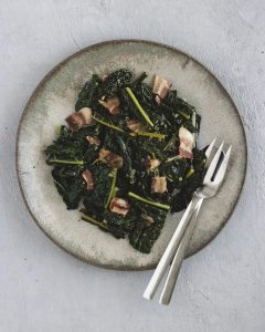 bacon braised kale