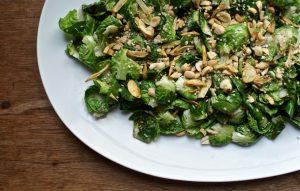 Brussels Sprouts (Tea) Leaf Salad