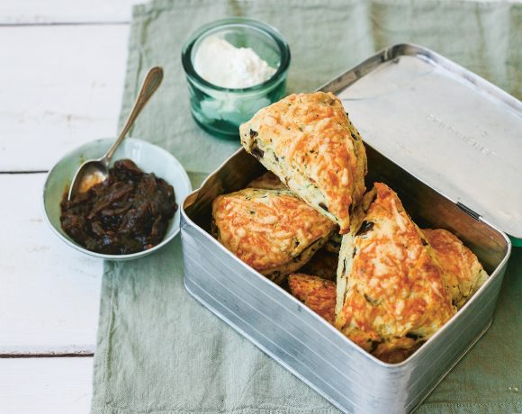 Cheesy Mushroom and Thyme Scones