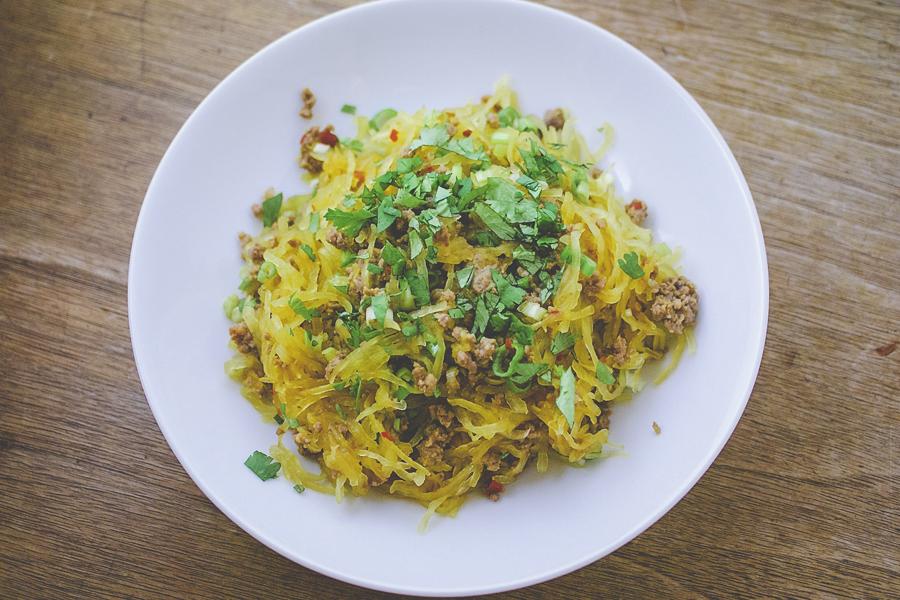 """Chile-laced Spaghetti Squash """"Noodles"""""""