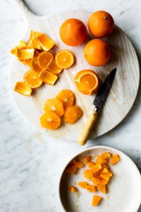 diced clementines