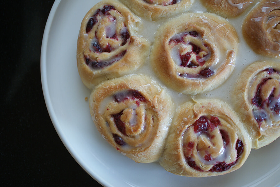 cranberry cinnamon buns