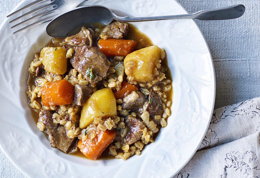Irish lamb stew with pearl barley