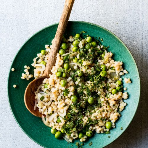 Pearl Couscous Pea Salad Edible Communities
