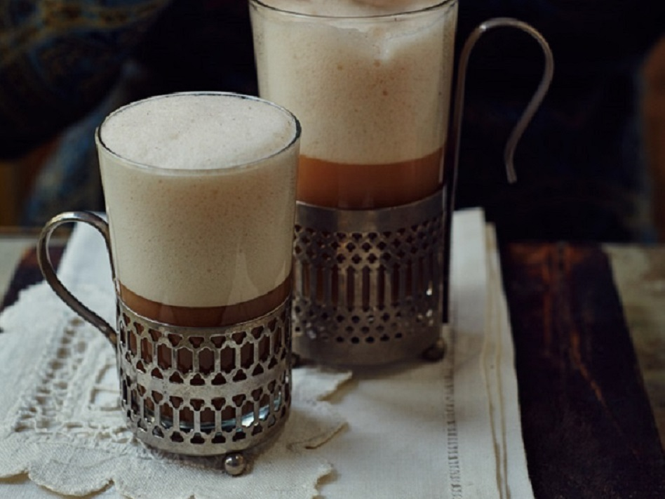 Creamy mulled beer