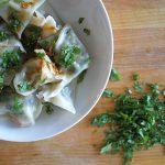 pork swiss chard dumplings