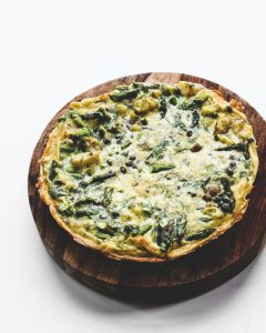 spring fritatta with asparagus