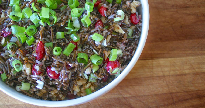 wild rice and cranberry walnut salad