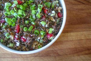 wild rice and cranberry walnut salad