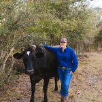 Toni Carter on her farm