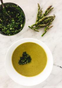 asparagus chickpea soup