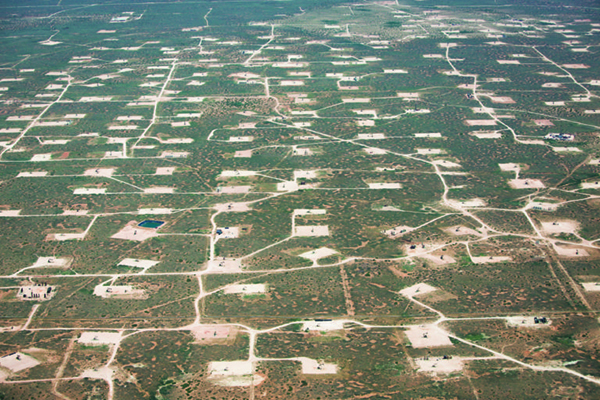 fracking field in New Mexico