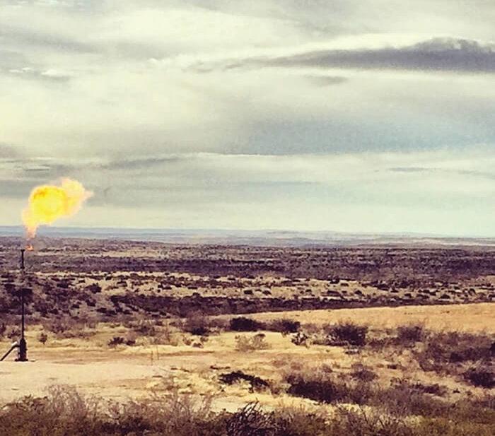 fracking flames