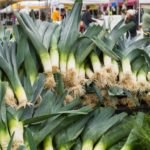leeks at farmers market