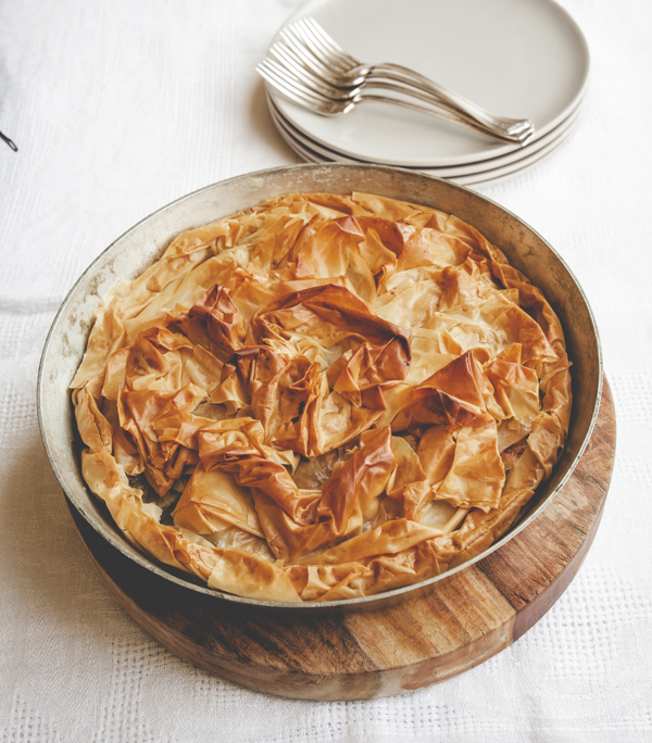 Phyllo Pie With Greens