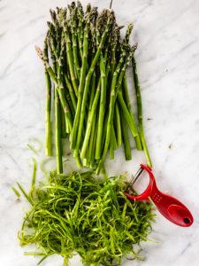 peeled asparagus