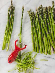 asparagus stalk peeled