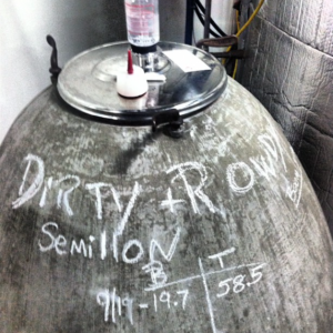 semillon amphore at dirty rowdy winery