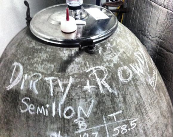 semillon amphore at dirty rowdy winery