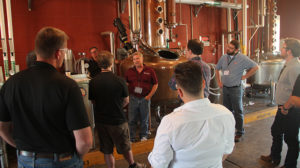 group around a distiller