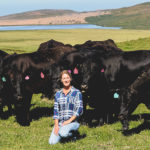 Julie Rossetti with veal calves