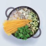 One-Pot Pasta with Roquefort and Courgettes