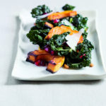 Roasted Winter Squash with Kale & Pomegranate Seeds