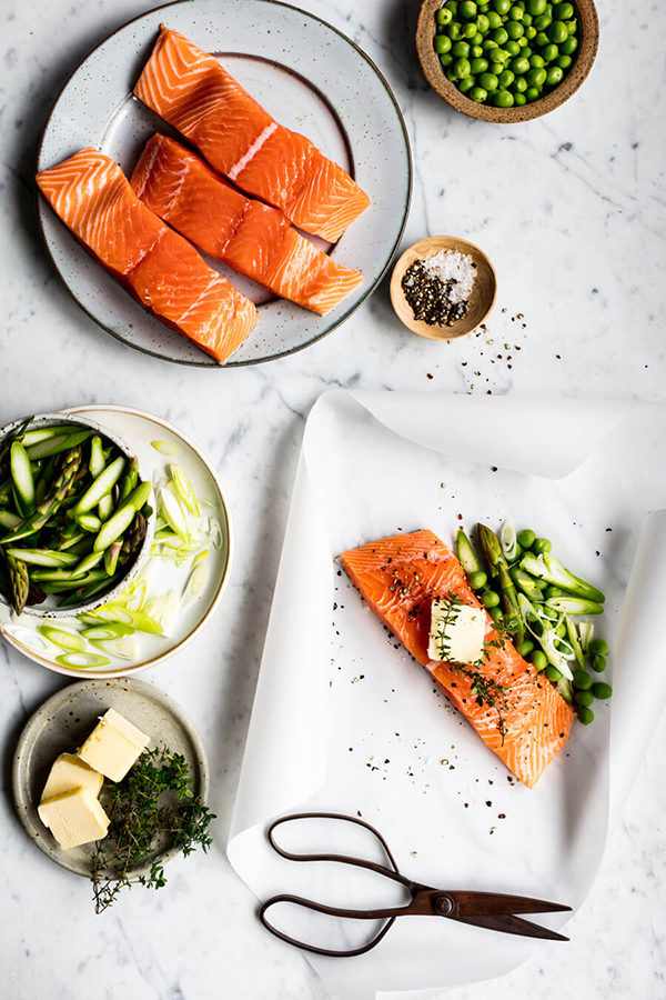 ingredients for roasted salmon