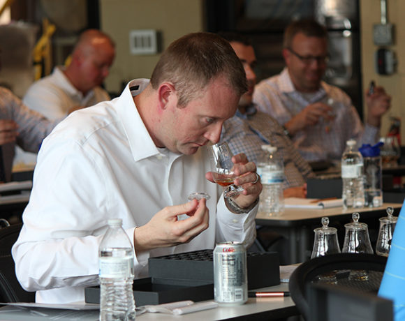 nosing at a distiller class