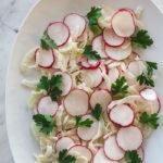 shaved fennel radish salad
