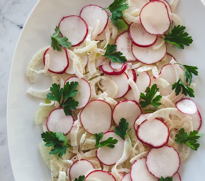 shaved fennel radish salad