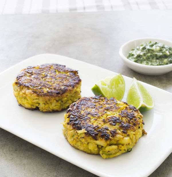 spiced cauliflower cakes