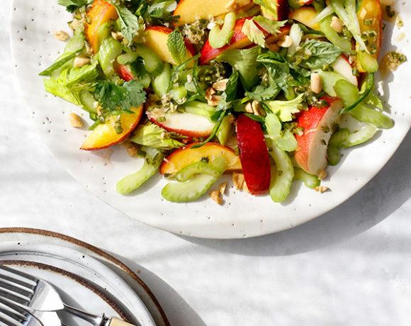peach celery salad
