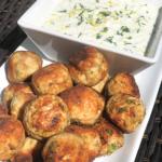 turkey meatballs with greek-style tzatziki sauce