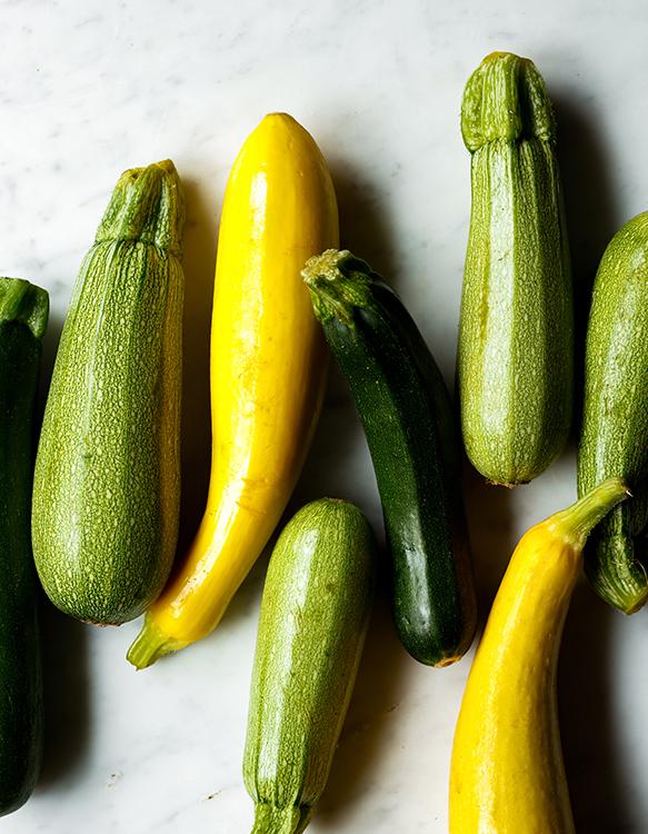 green and yellow zucchini