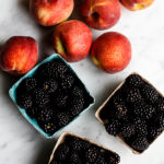 peaches and blackberries