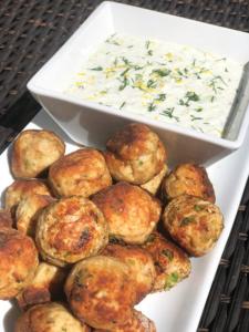 turkey meatballs with tzatziki sauce