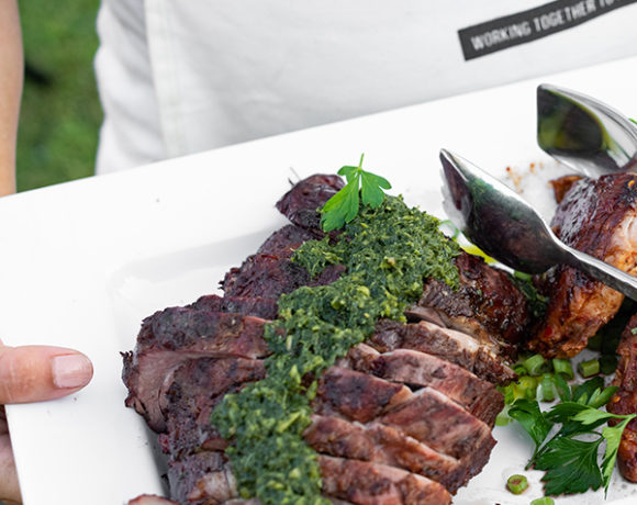 leg of lamb with chimichurri